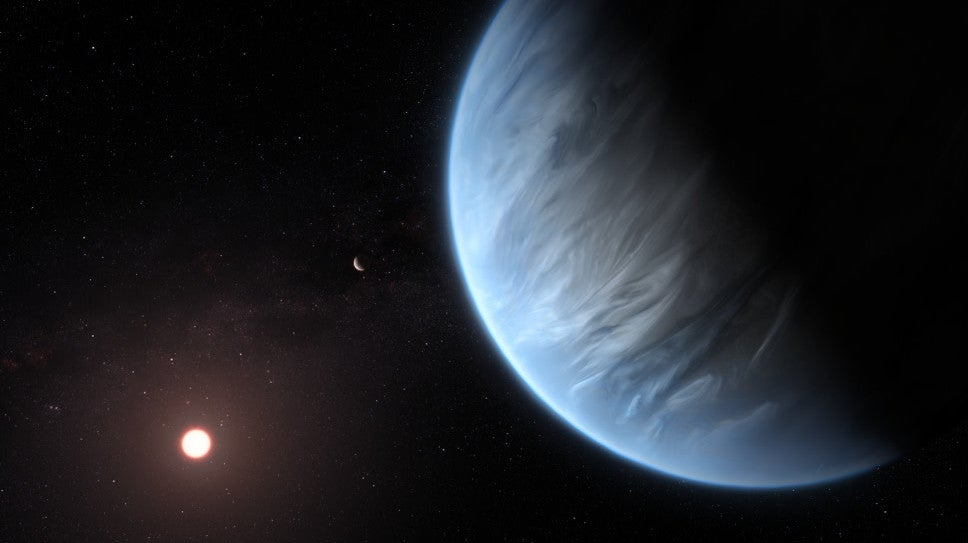Water Vapour Detected In The Atmosphere Of A Potentially Habitable Super-Earth