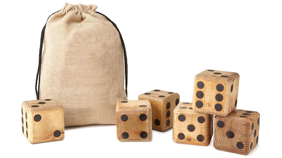 Gigantic Wooden Dice Fill Your Yard With Yahtzee