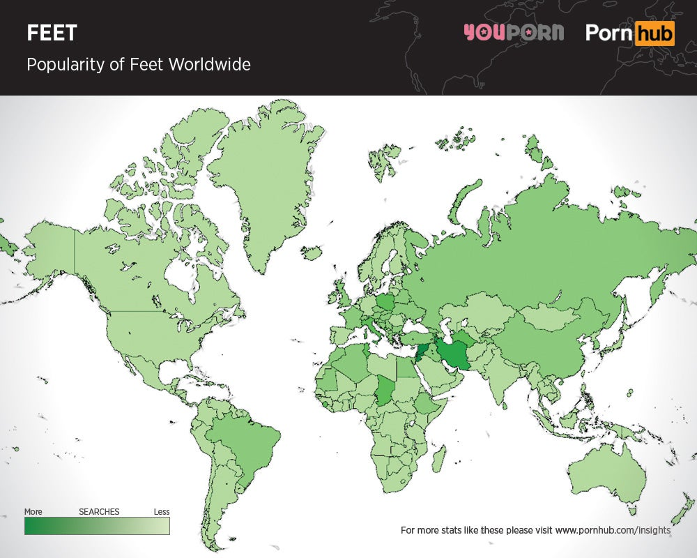 Maps Show Which Body Parts In Porn Are The Most Popular Across The World  Gizmodo -5108