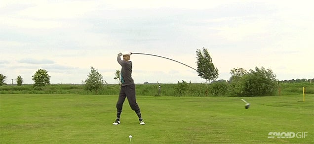 Swinging The World's Longest Golf Club Looks Absolutely Ridiculous