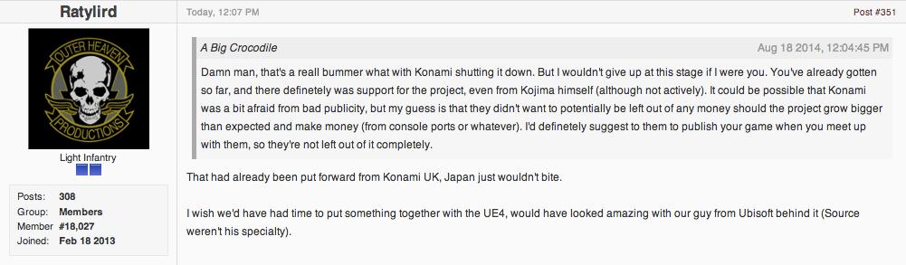 Konami Approved, Then Canceled Metal Gear Fan Remake, Devs Say