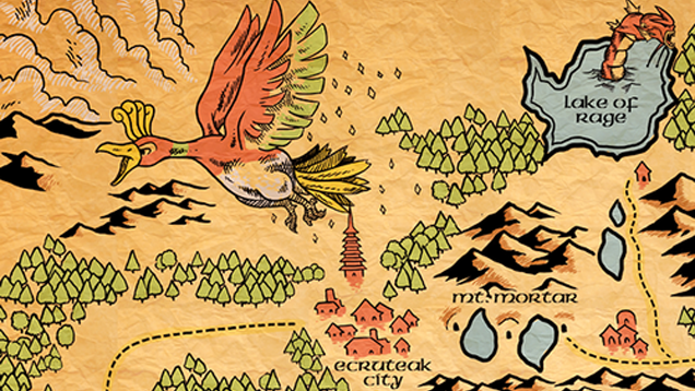 Pokémon's Johto Region As A Middle Earth-Style Map