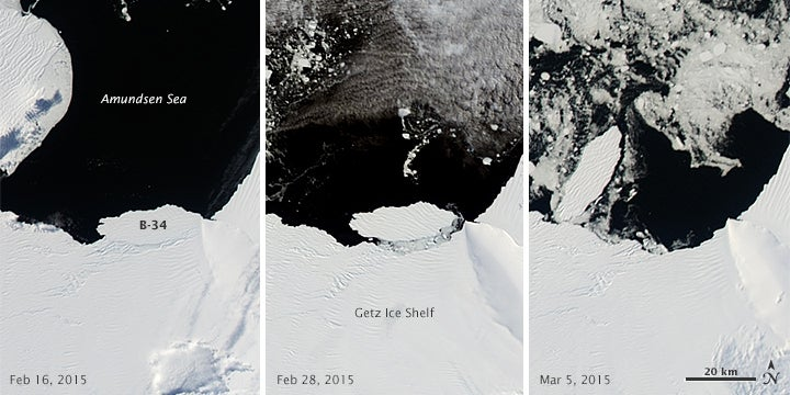 Watch The Birth Of A 17-Mile Iceberg