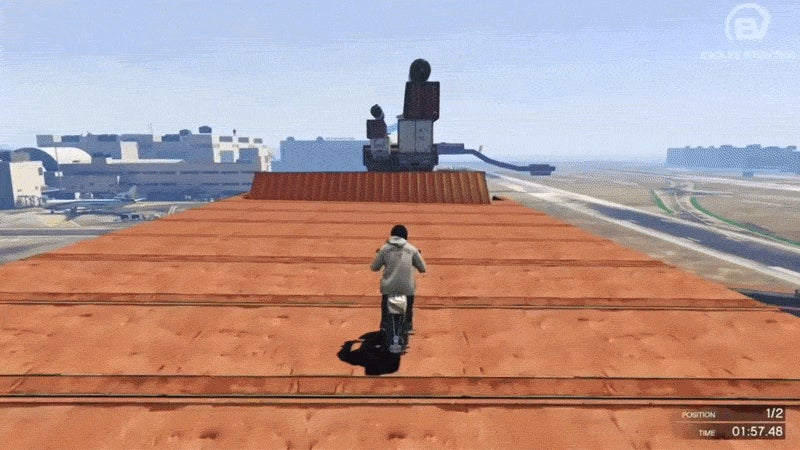 GTA V Player Pulls Off Absurd Stunts With A Vespa Bike