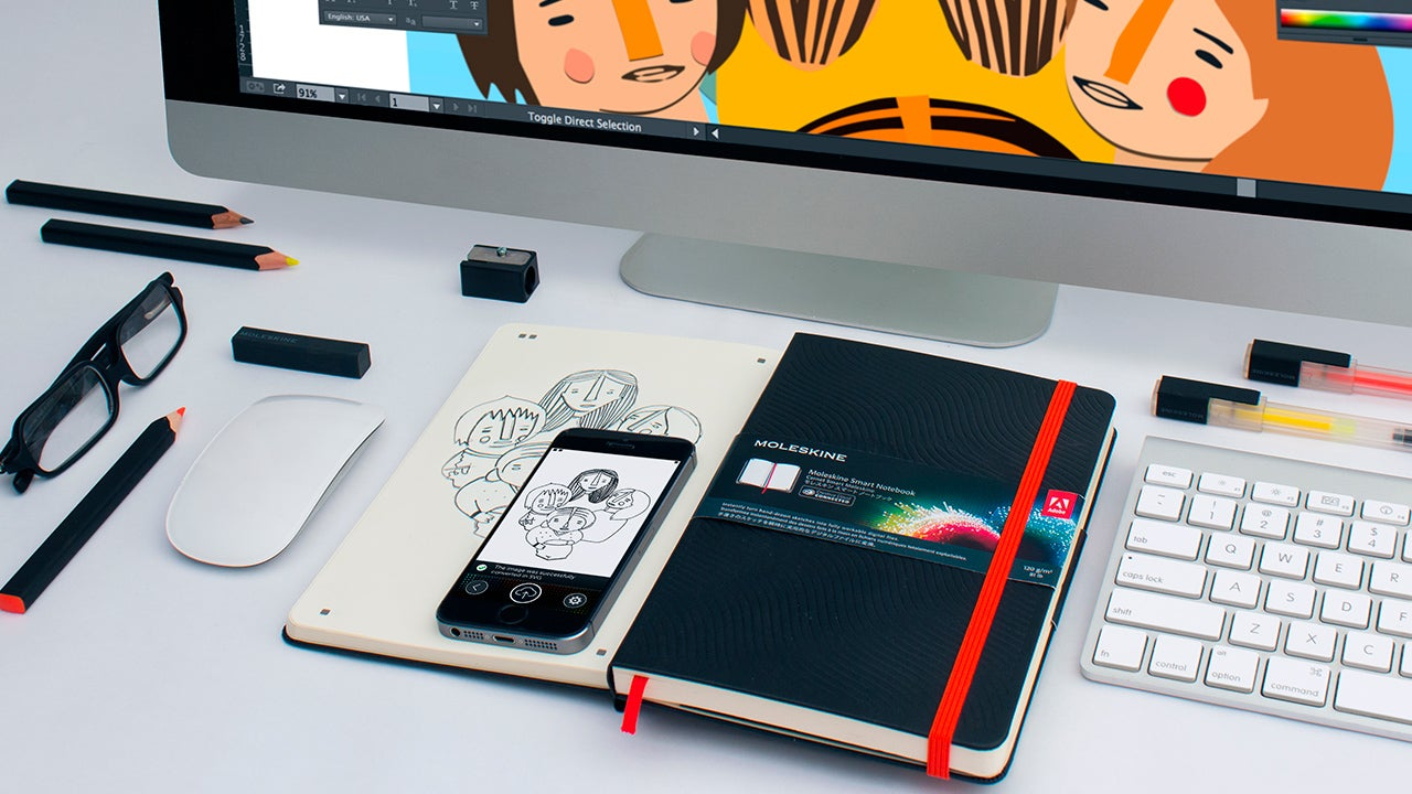 Digitise Your Doodles Into Adobe's Apps With Moleskine's New Notebooks