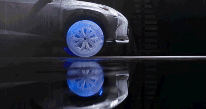 Tires Made of Ice Are the Least Practical After-Market Lexus Upgrade