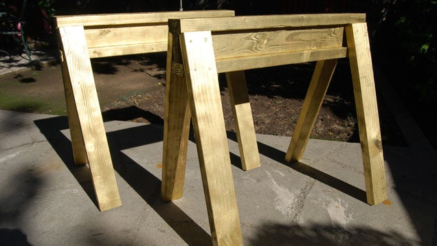 Build Stackable Sawhorses from Scrap Lumber in Under 10 Minutes