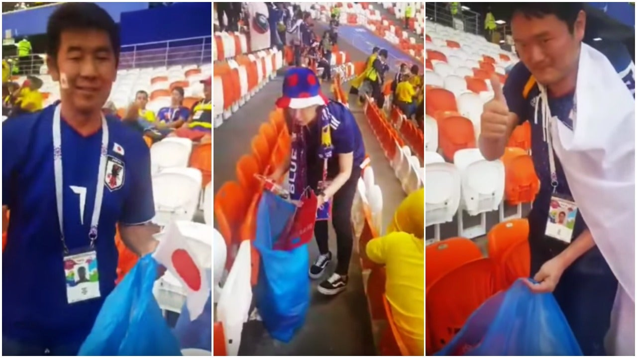 Japanese Clean-Up Manners Are Spreading To Other Soccer Fans
