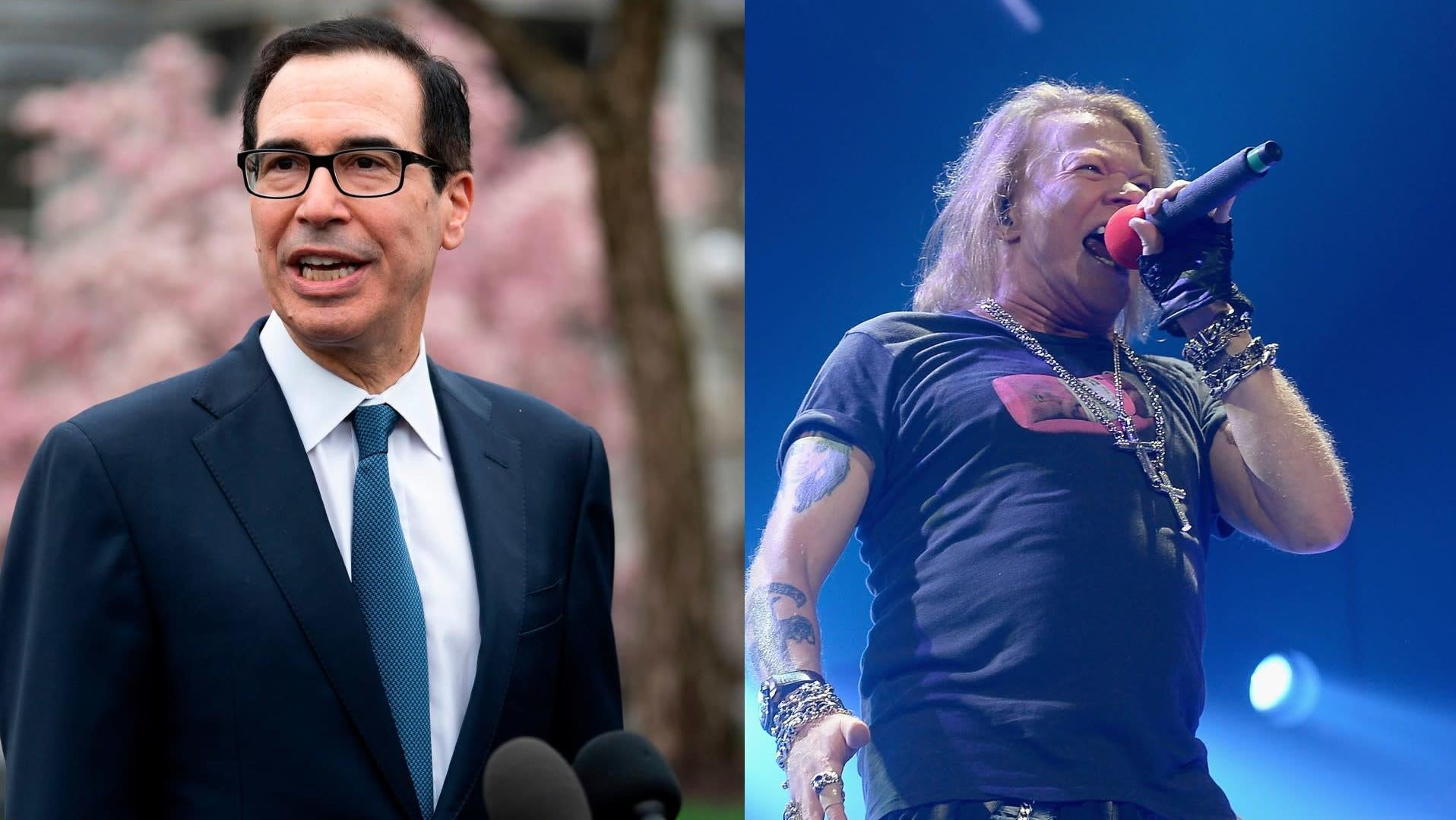 Axl Rose And Steven Mnuchin Are Fighting On Twitter About The Trump Regime's Coronavirus Death Toll