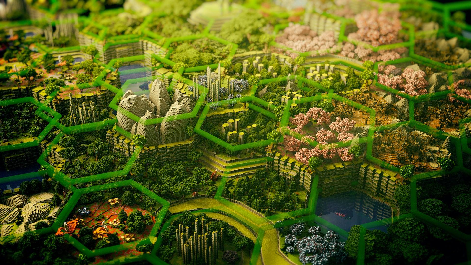 Minecraft Beautiful Garden enormous, beautiful minecraft map took 400 hours to build | kotaku
