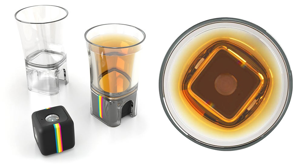 Polaroid's Action Camera Now Has A Shot Glass Adaptor For Documenting Your Drinks
