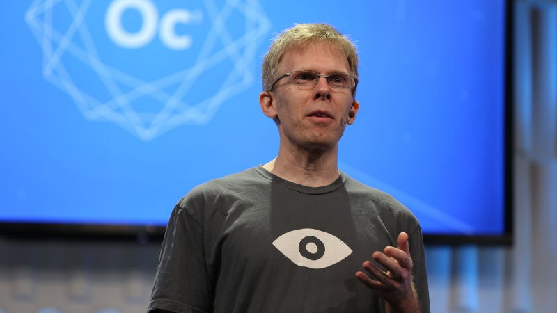 Oculus Rift's John Carmack Is Stepping Down From His Role As CTO Of The VR Company To Try Something