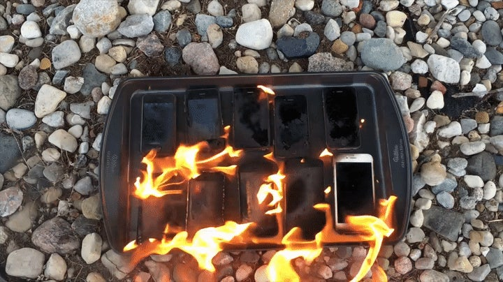This Guy Set Every Generation of iPhone on Fire With Gasoline