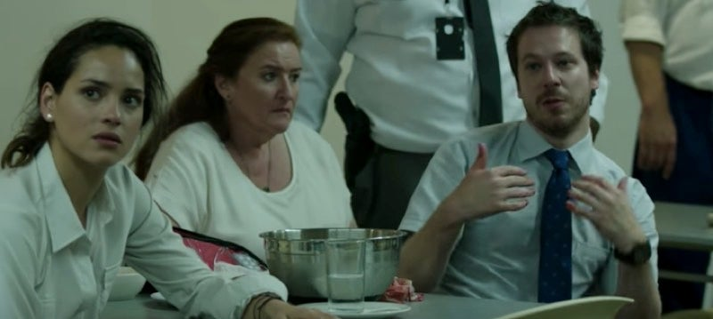 Co-Workers Debate Their Gory Fate In New Clip From James Gunn's The Belko Experiment