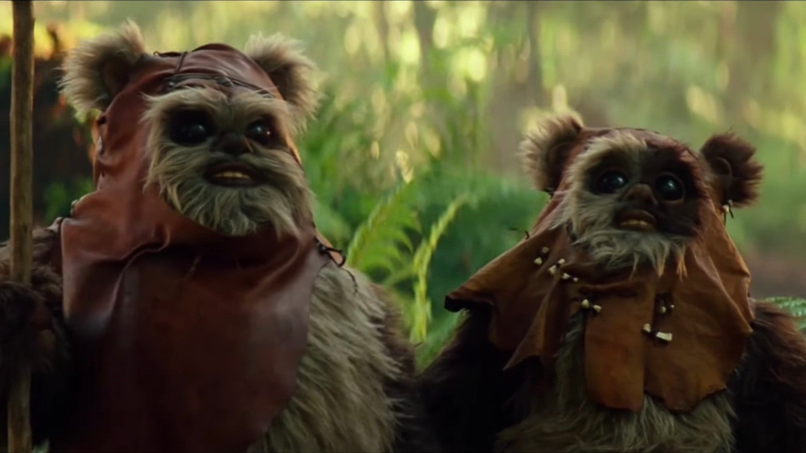 Watch Warwick Davis And His Son Play Wicket And His Son In Star Wars: The Rise Of Skywalker