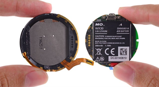 Moto 360 Teardown: Battery Not As Advertised