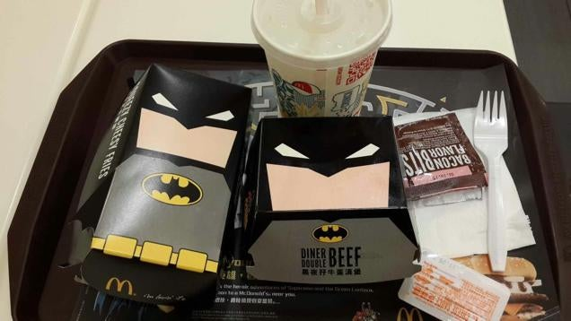 There's One Cool Thing about McDonald's Batman Burger