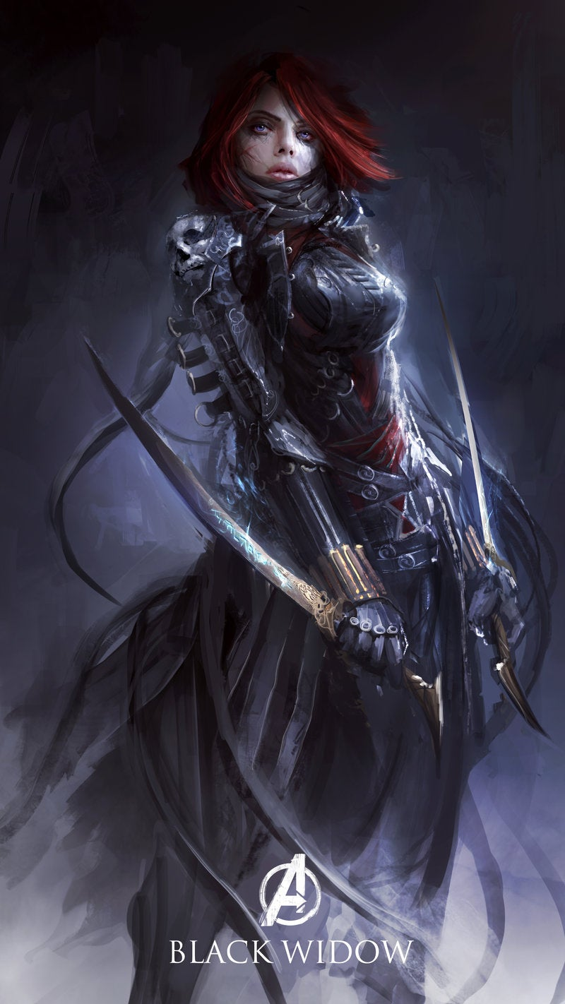 The Avengers reimagined as dark fantasy characters is scary great