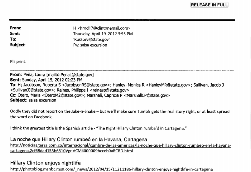 A Hillary Clinton Salsa Dancing Email Mystery In Two Parts