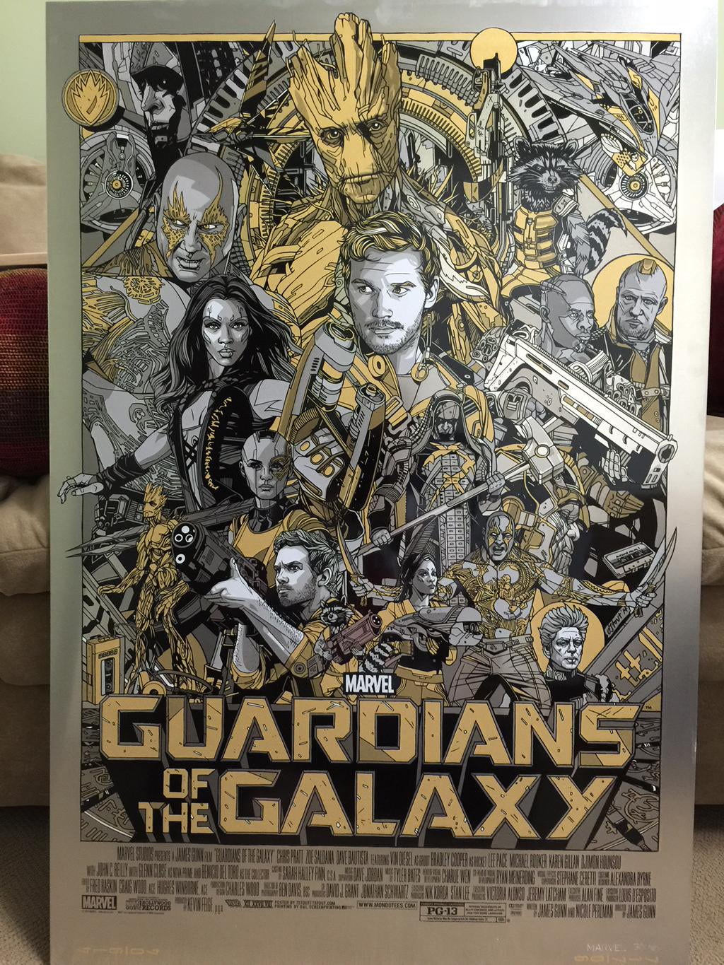 All I want for Xmas is this giant Guardians of the Galaxy metal poster