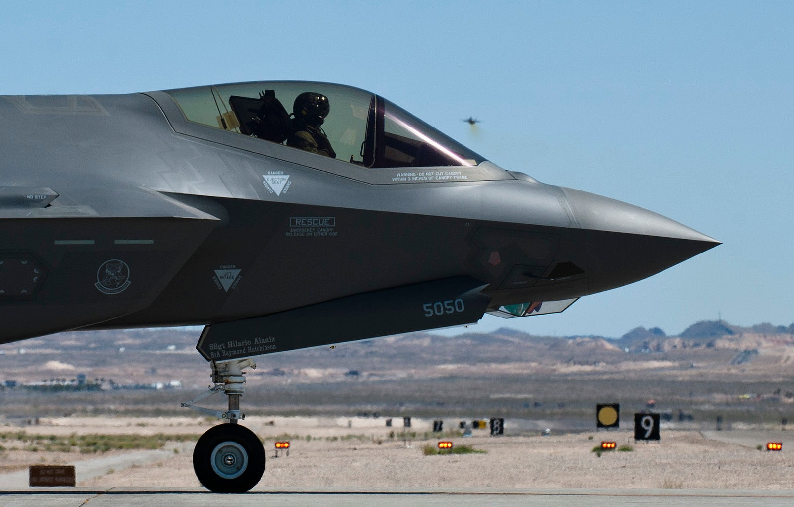 Bold profile photo of the F-35 makes it look like a future space fighter