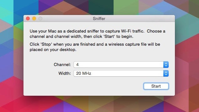 Access OS X's Packet Sniffer With The Wireless Diagnostics Tool