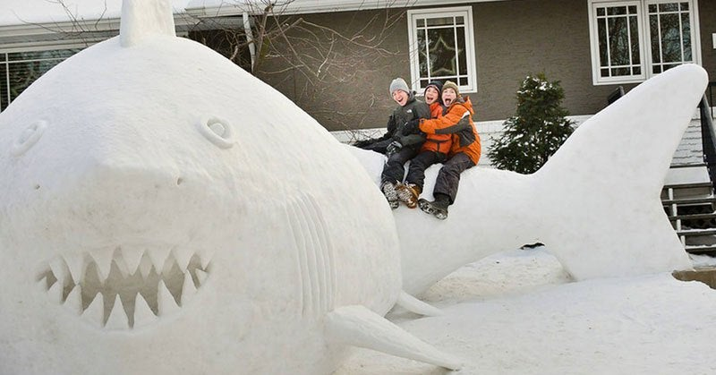 Check Out The Gigantic Snow Sculptures Made By Three Brothers