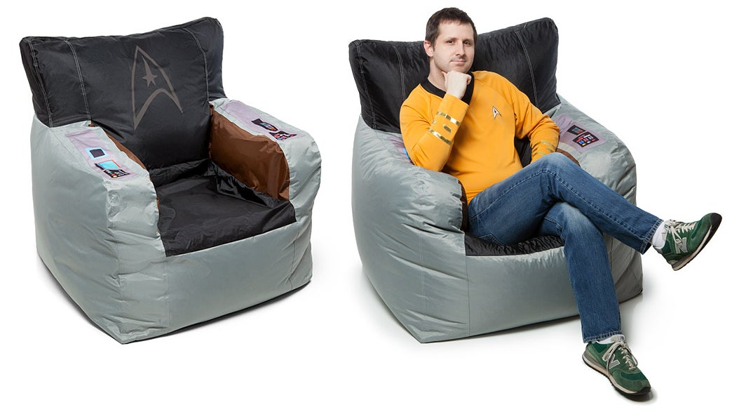 Take Command Of Your Den In Captain Kirk's Bean Bag Chair