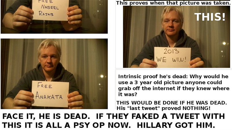 The Internet's Best Conspiracy Theories About Julian Assange's Meltdown