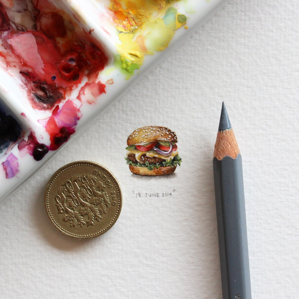 Artists makes 365 beautiful tiny paintings for ants