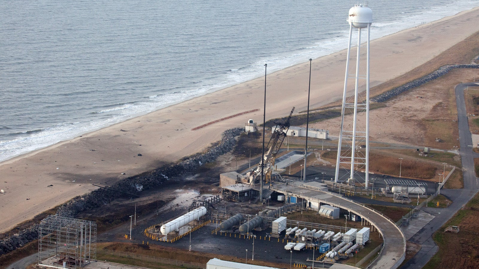The Wallops Island Launch Facility The Day After The Antares Explosion