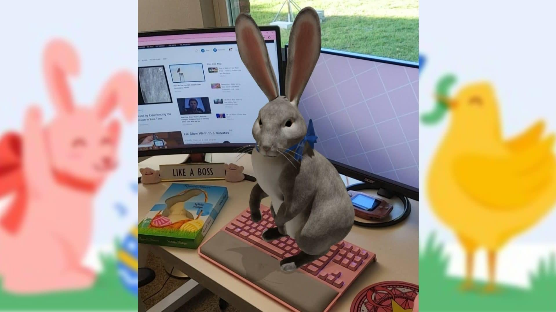 Google's AR Easter Bunny Can Still Visit This Holiday Weekend, Even If You're Stuck Inside
