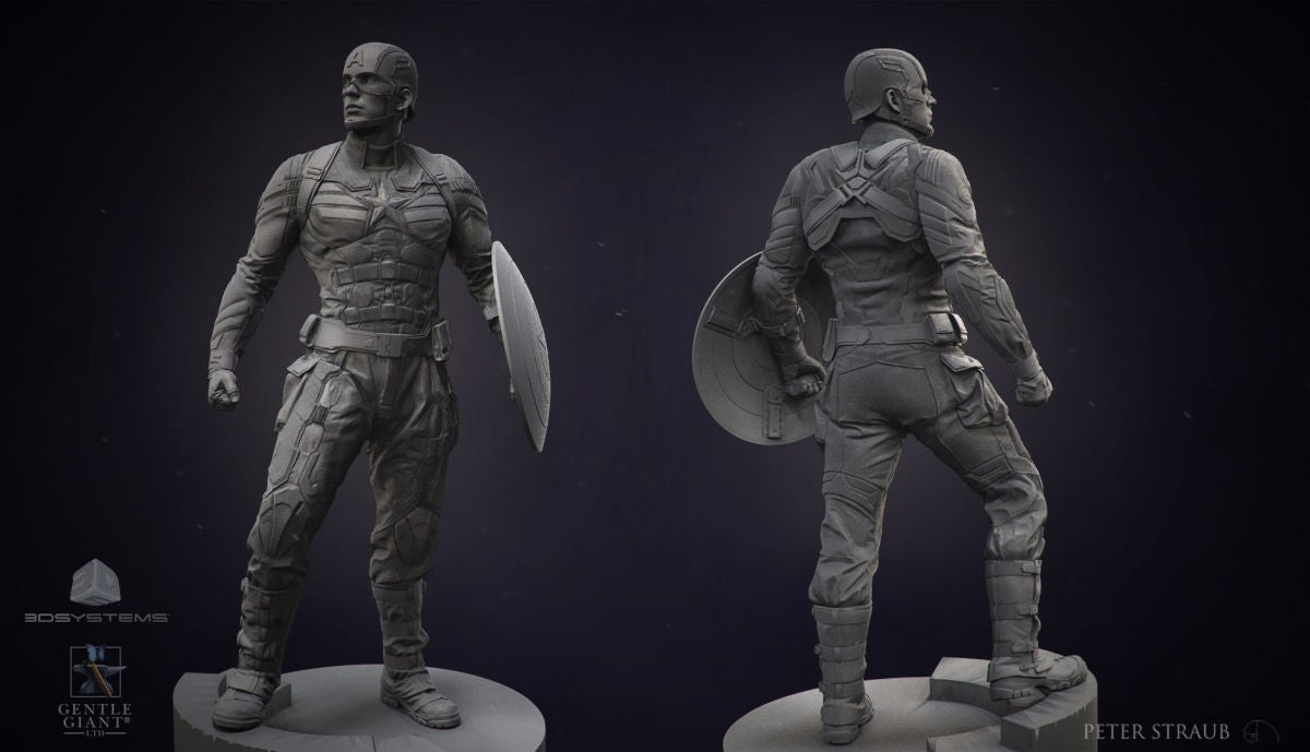 These classic sculptures of movie heroes should be in a Greek temple