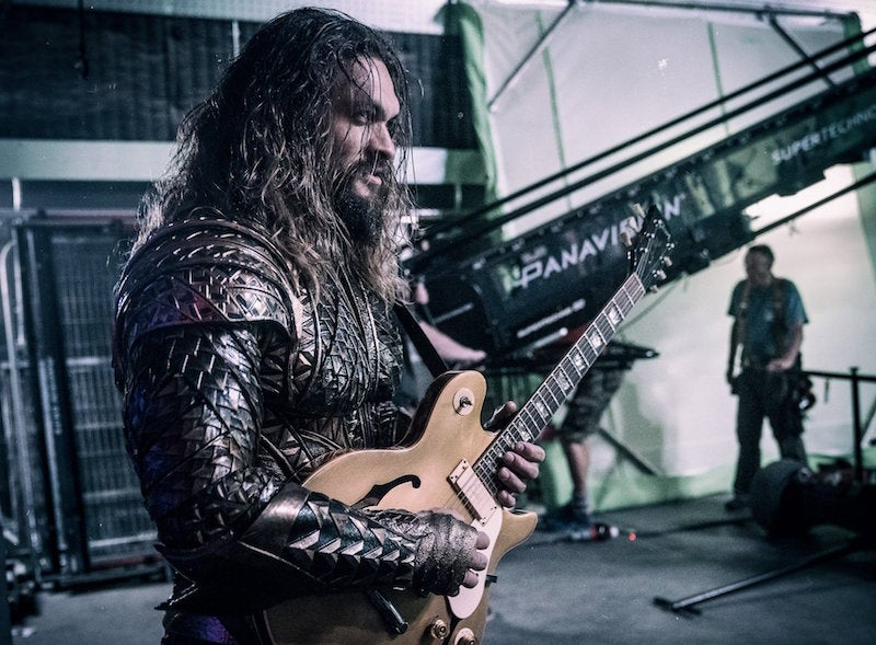 We All Deserve Good Things, So Here's Jason Momoa Rocking Out As Aquaman