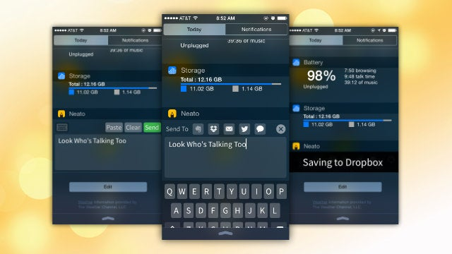 Neato Adds a Notepad to Notification Center