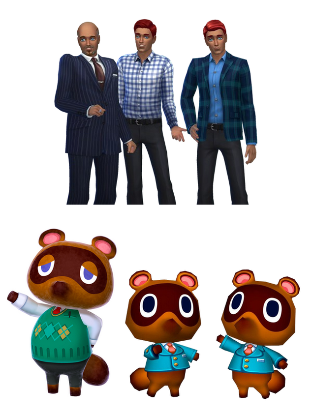 Animal Crossing Characters, Humanized in Sims 4