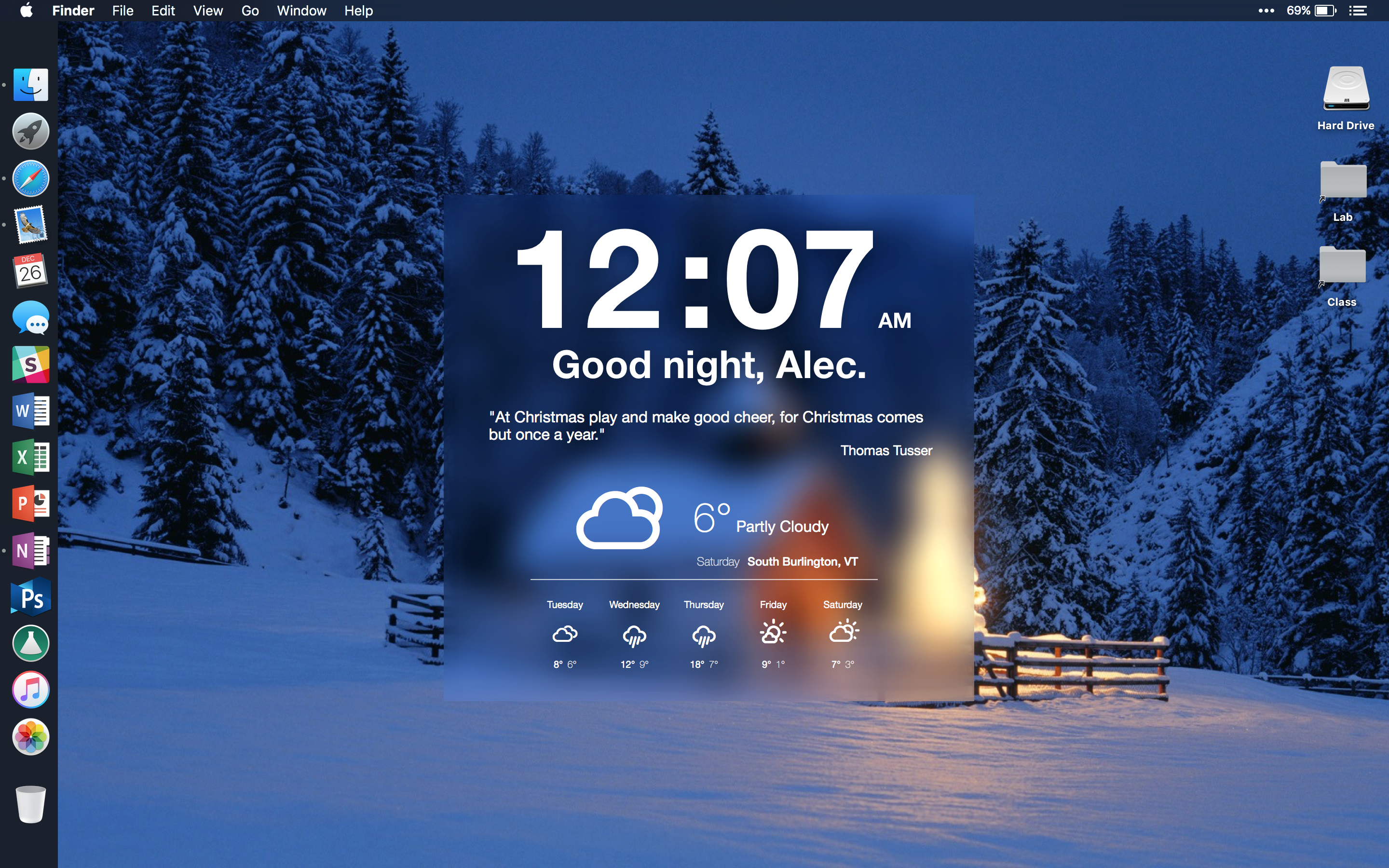The Winter Cottage Desktop