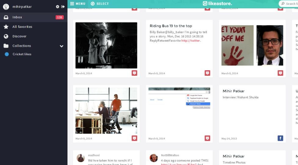 Likeastore Collects All Your Social Likes and Favourites in One Place