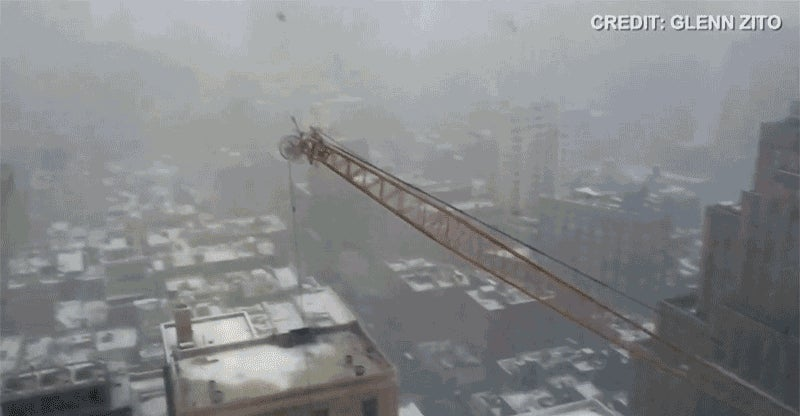 This Video of a Crane Collapsing in Manhattan Is Your Worst Nightmare
