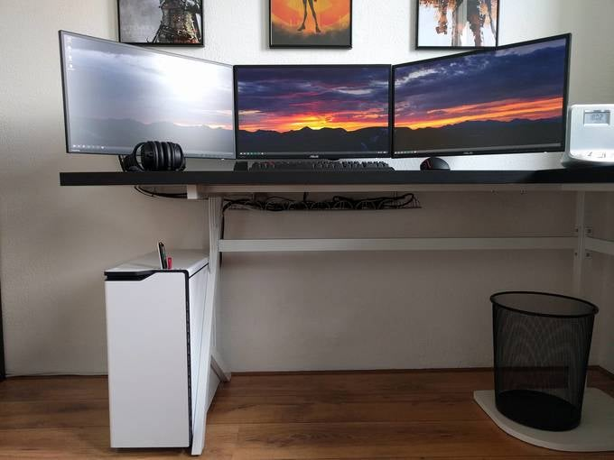 The Gamer's Triple Monitor Workspace