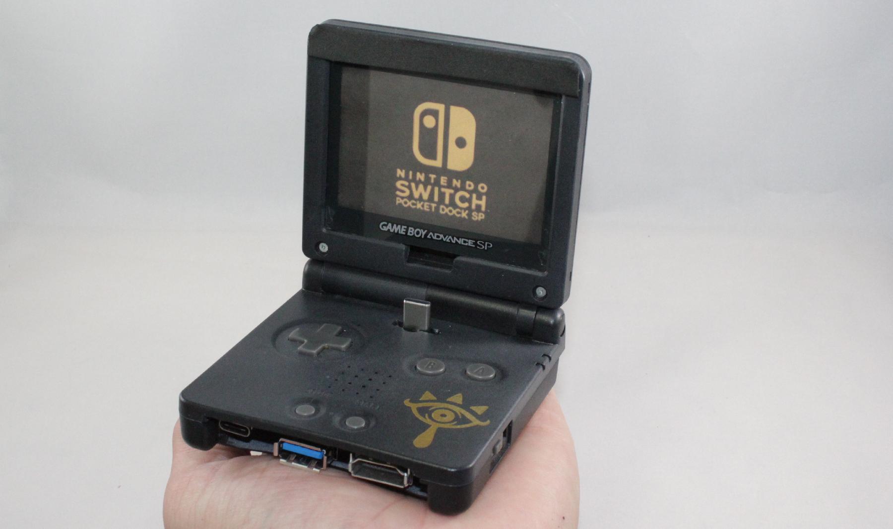 fan transforms old game boy advance sp into a nintendo switch dock