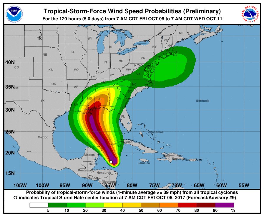 NHC: Nate to hit Gulf Coast on weekend