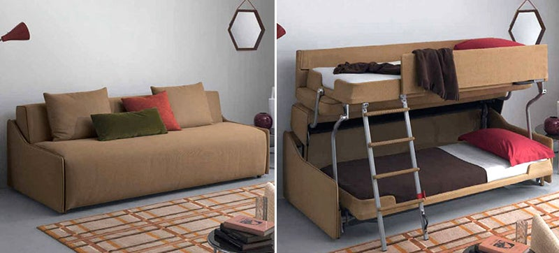 couch bunk bed. This Bunk Bed Sofa Out-Transforms Even Optimus Prime Couch