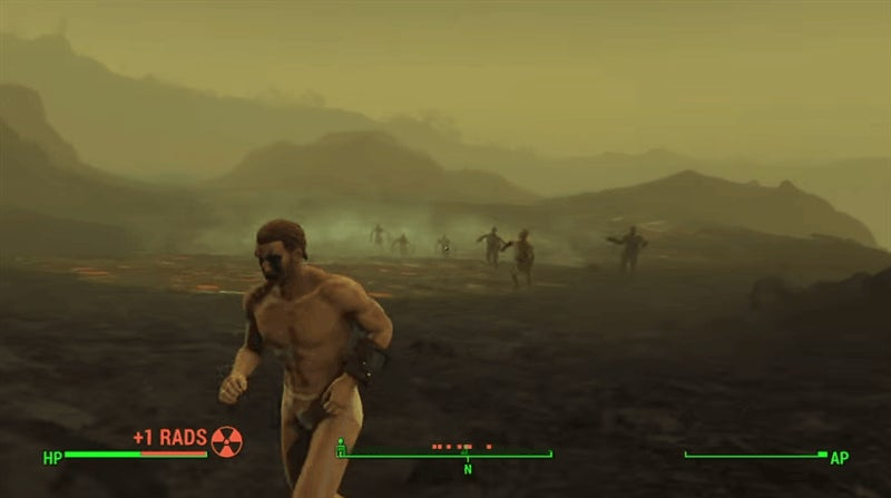 Man Runs Through Fallout 4's Glowing Sea Completely Naked, Actually Survives