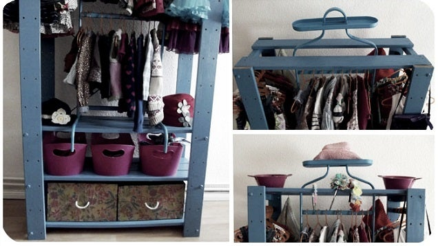 This DIY Mini Closet Saves Space, Is Made from IKEA Parts