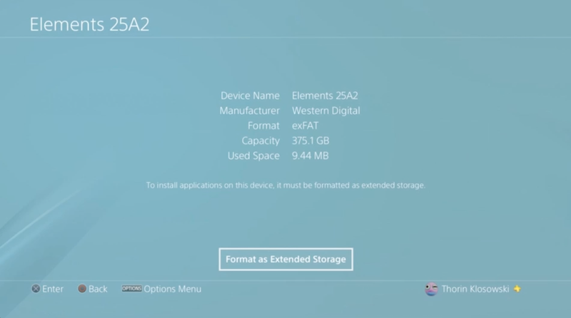 How To Set Up An External Hard Drive On Your PS4