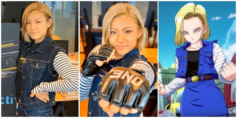 MMA Fighter Does An Excellent Cosplay Of Dragon Ball's Android 18