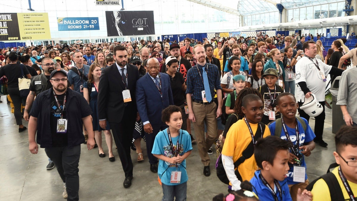 John Lewis Leads March For Civil Rights Through Comic-Con