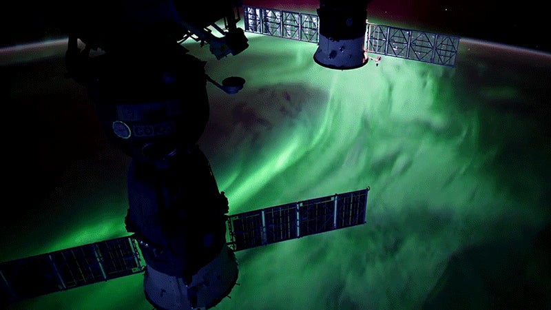These Auroras Look Incredible Filmed From the Space Station in Ultra HD