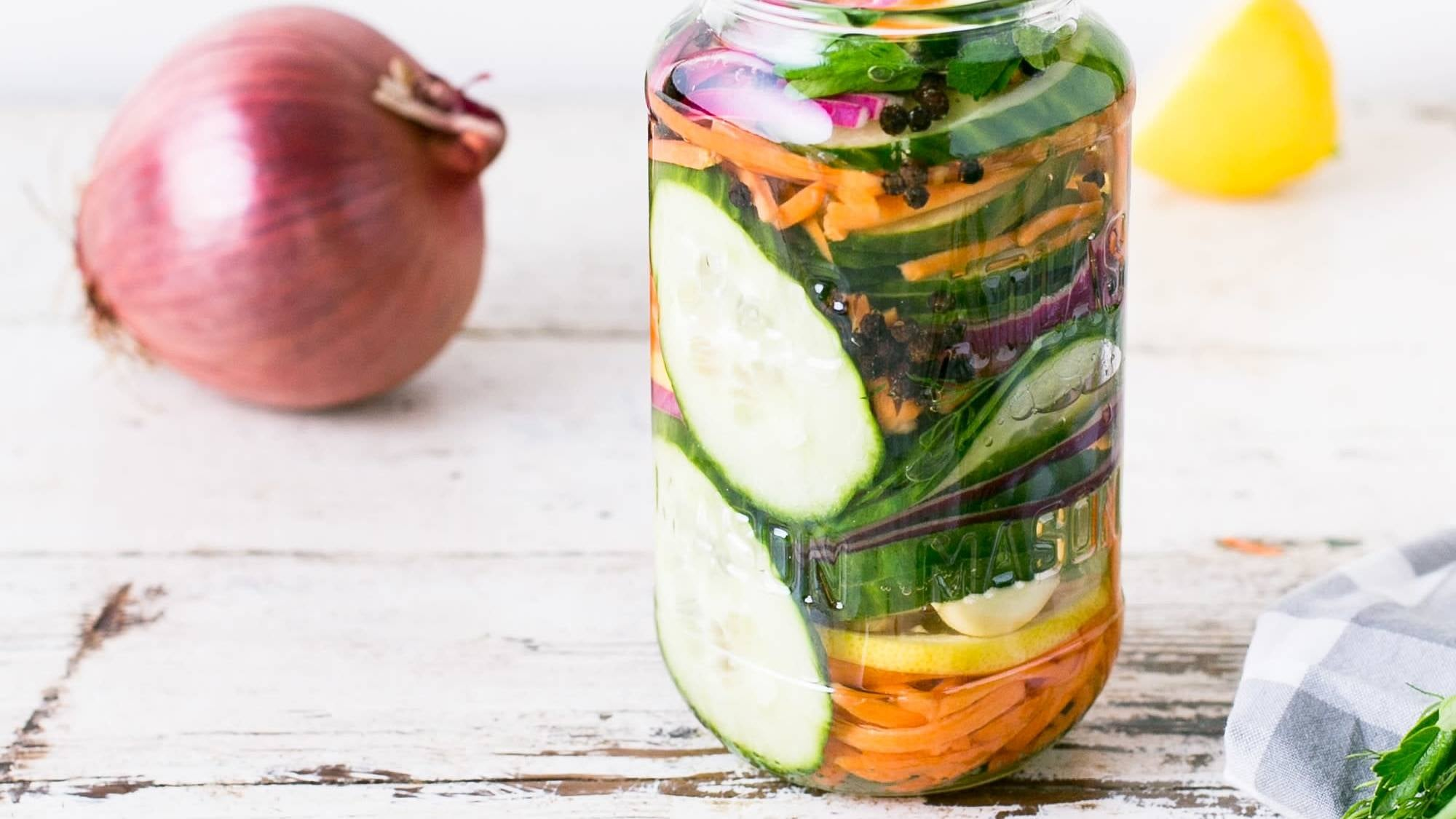 Make Quick Pickles Even Quicker By Massaging Your Veggies